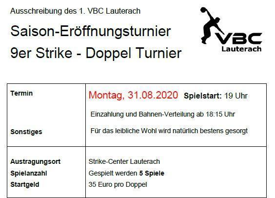 Saison Eröffnungsturnier VBC Lauterach 2020